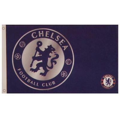 Chelsea FC Official Crested Large Flag (5ft x 3ft) With Metal Eyelids Present