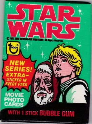 Star Wars 1977 Topps Series Four Green Border Unopened Wax Pack