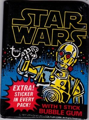 Star Wars 1977 Topps Series One 1 Blue Border Unopened Wax Pack First Original