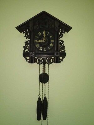 Antique train style cuckoo clock early 1900s