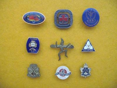 Vintage Girl Guides Of Canada - Collection (#3) Of Nine Pins.