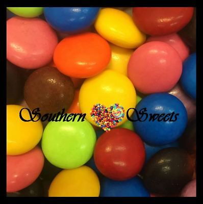 Large Smarties Gems Choc Candy Buttons Colourful Lollies  1Kg Made In Australia