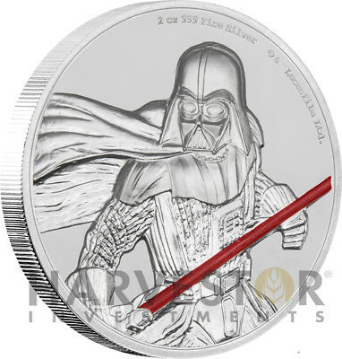 2017 Star Wars Darth Vader Ultra High Relief Niue - 2 Oz. Silver Coin - Ogp Coa
