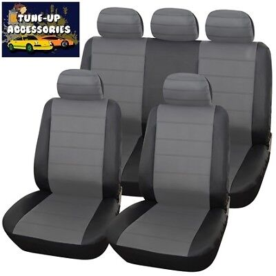 Vw Golf Tsi (04-08) Urban Grey/blk Leather Seat Covers For