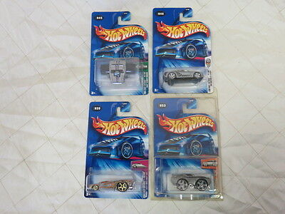 Hot Wheels 2004 First Editions 048 Ford 045 Plymouth 053 Plymouth 039 Chevy