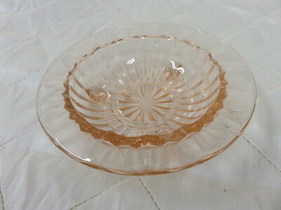Vintage Ashtray Depression Jeanette Windsor Set Glassware Pink