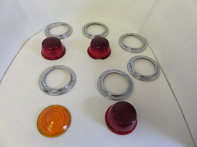 1950's Grote 220 Signal Tail Light with Chrome Rings Vintage Collectible