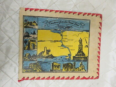 Souvenir from the Canal Zone Panama Canal 1930s Vintage