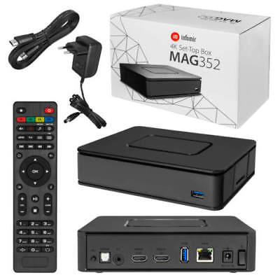 Mag 351/352 Set Top Box IPTV Linux 4K UHD HEVC - In-built Wifi and Bluetooth