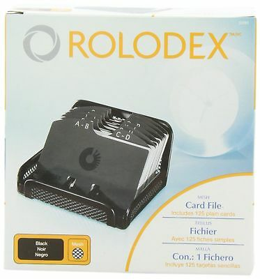 "Rolodex Card File MESH Open Business Card File 125-Cards 2-1/4"" x 4"" Box ... NEW"
