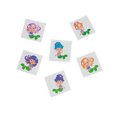 Mermaid Glitter Tattoos Temporary Tattoo Pack 36 Under the Sea Party Favours