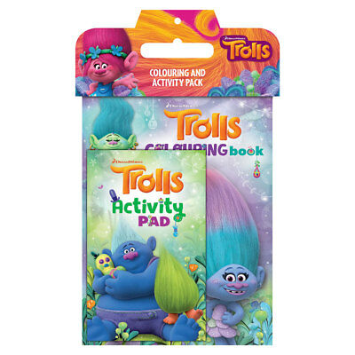 Trolls Colouring And Activity Pack - NEW