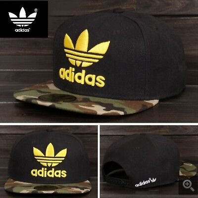 Embroidered Adidas Trefoil Snapback Red and Black Mesh Flat Cap One Size