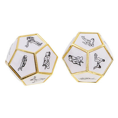 2Pcs Sex Love Game Dice for Adults Bachelor Erotic Glow Party Entertainment