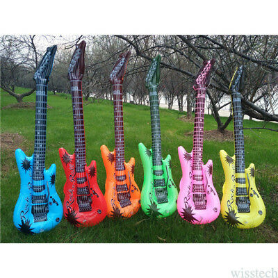 Inflatable Blow up Rock n Roll Flame Guitar  Fun Holiday Party Music 11*9*4cm