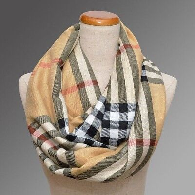Us seller fast shipping New fashion women pashmina plaid long scarf (180x70cm)