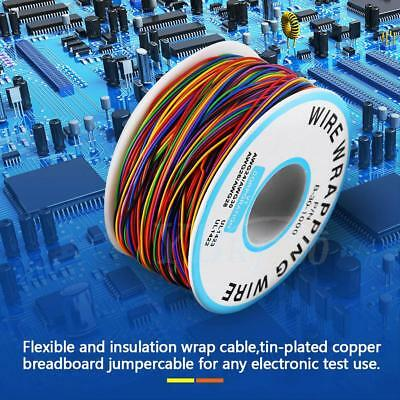 280M 8-Wire Colored Insulated P/N B-30-1000 30AWG Test Wire Copper Wrap Cable