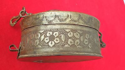 1800's Copper  Mughal Rare Handcarved Very Beautiful Jewellery Keeping  Box