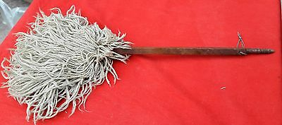 Antique Rare Hand Crafted Unique Islamic Rose Wood Handle Religious Chanvar/fan