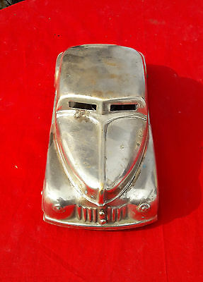 Antique Rare Handcrafted Nickel Plated Brass Betel Nut Box As Car Model