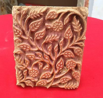 1930's Rare Wooden Hand Carved Leaves Textile Printing Block,single Wood