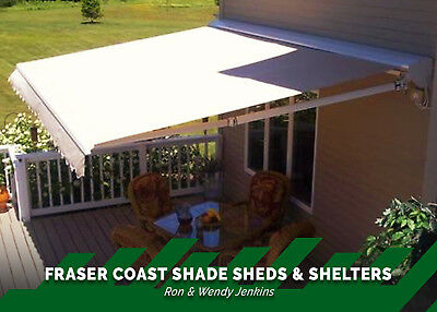 Stylish Retractable Awning Over the Deck Veranda Cafe Pool Area Hervey Bay, QLD