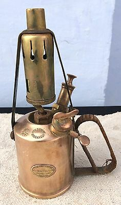 Antique V Rare Max Sievert-No 4 Saturnus Specially For F.e Becker & Co Blowtorch