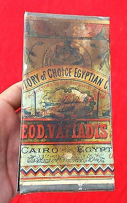 Antique Very Rare Cairo Victory Of Choice Egyptian Cigarette Tin Box,egypt