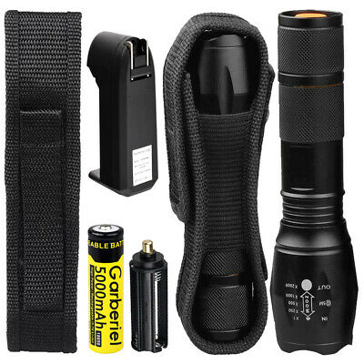 12000LM 5 Modes XM-L T6 LED Flashlight Zoomable Outdoor 18650/AAA Flashlight Kit
