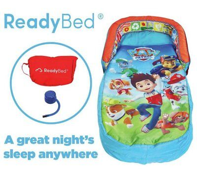 Licensed PAW PATROL ReadyBed Sleeping Bag Inflatable Mattress & Pump Ready Bed
