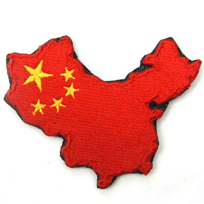 People's Republic of China PRC Geography of China Map Tactical Morale Flag Patch