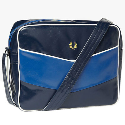 Fred Perry Chevron Unisex Bags Navy Blue