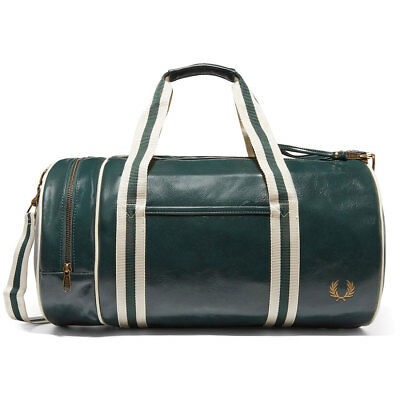 Fred Perry Classic Barrel Unisex Bags Green