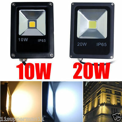 10W 20W LED Flood Light Security Lights Spotlight Garden Yard Working Lamp IP65