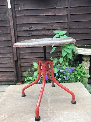 Vintage French Industrial Machinists Seat Stool