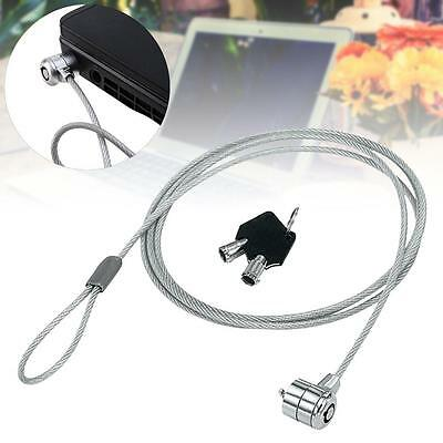 Anti-Theft Office Notebook Laptop Computer Desk Key Security Lock Chain Cable EF