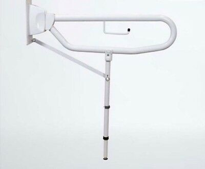 Disabled Elderly Hand Grab Rail Bath/Toilet Drop Down Arm with Extra Support Leg