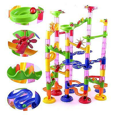 105Pcs DIY Construction Marble Race Run Kids Toy Game Building Block Tower Gift