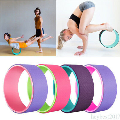 1PC Yoga Prop Fitness Wheel Yoga Poses Relieve Stress Enhance Agility Stamina cf