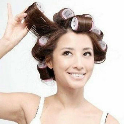 New 6Pcs/Set Large Hair Salon Rollers Curlers Tools Hairdressing tool Soft DIY