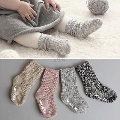 Infant Kids Baby Boys Girls Toddler Soft Anti-slip Socks Knitting Socks 0-4Y