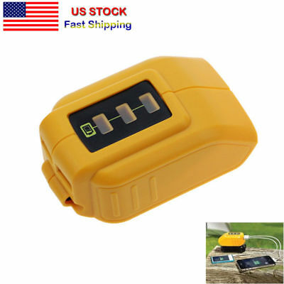 NEW USB CHARGING CONVERTER DCB090 ADAPTER CHARGER for DEWALT DCB205 204 BATTERY