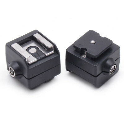 Portable SC-2 Flash Hot Shoe Adapter + PC Sync Socket for Digital Camera Eager