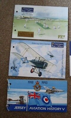 Alderney & Jersey Presentation Packs  x 3 containing mint stamps.