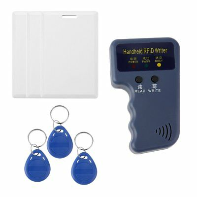 Handheld RFID 125KHz EM4100 EM410X ID Card Copier 3 Writable Tags And Cards MU