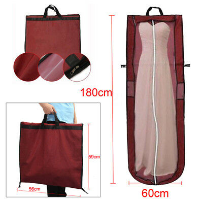 Full Length Long Dress Protector Cover Bridal Wedding Dresses Bag 180cm