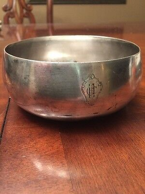Christofle Silver Plate Wine Champagne Cooler Bowl Antique Ch Logo Engraved