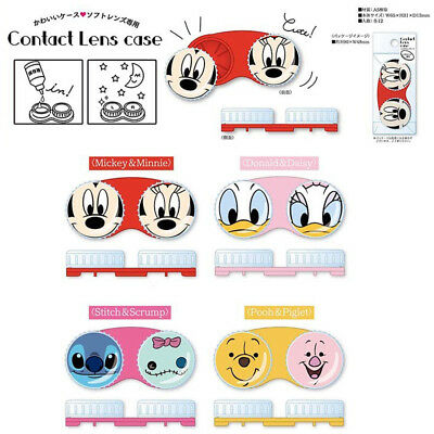 Japan Disney Donald Duck Mickey Stitch Pooh Color Contact Lenses Case E117