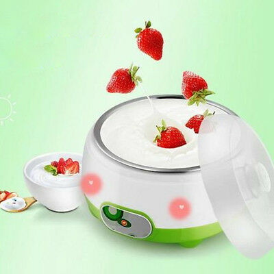 220V 1L Automatic Yogurt Maker Machine DIY Yoghourt Stainless Steel Container