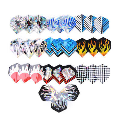 30Pcs/10Sets Professional 2D Bling Dart Flights Laser Tail Flight Throwing Toy